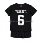 Paris Saint Germain PSG Voetbaltenue Kind 2019-20 Marco Verratti 6 Third Shirt..